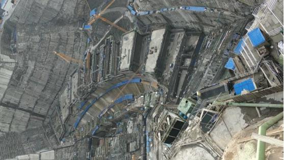 白鹤滩水电站大坝浇筑现场